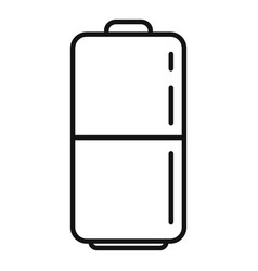 Survival battery icon outline style vector