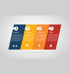 Swot business tilted or tilt infographic chart vector