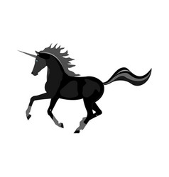 unicorn black-headed on a white background vector image