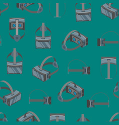 Virtual reality headsets seamless pattern vector