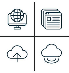 Web icons set collection of virtual storage vector