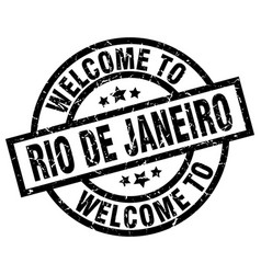 Welcome to rio de janeiro black stamp vector