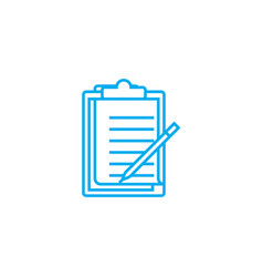 working notes linear icon concept working notes vector image