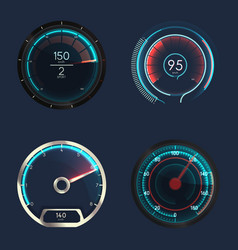 analog and futuristic speedometer or gauge vector image