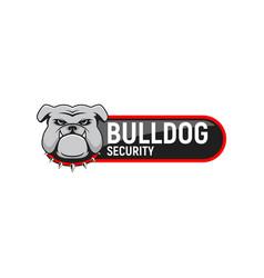 logo bulldog security vector image vector image