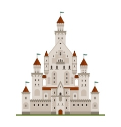 Medieval fairytale castle or palace vector image vector image