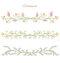 Ornament Color Set vector image