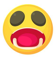 surprised smiley icon cartoon style vector image