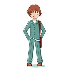 teenage student vector image vector image