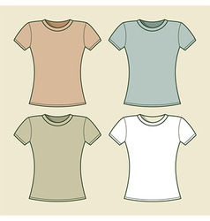 Women t-shirts template vector image
