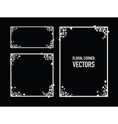 black floral corners background vector image vector image