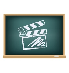 Board cinema clapper board vector