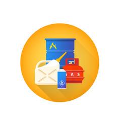 combustible hazardous waste icon vector image