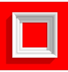 Empty Picture Frame on Red Background vector image