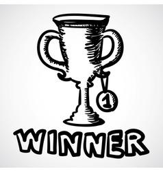 Trophy cartoon vector image vector image