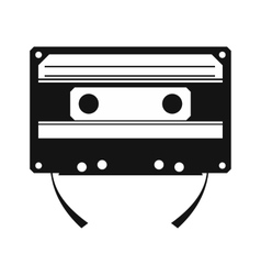 Audio compact cassette simple icon vector image