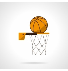 Basketball hoop flat color icon vector