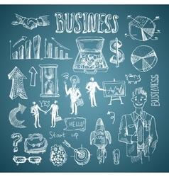 business sketch vector image vector image