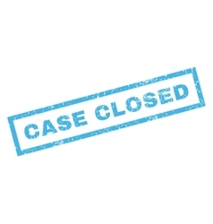 Case Closed Rubber Stamp vector image vector image