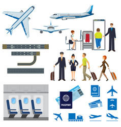 flying passenger aircrafts plane check-in vector image vector image