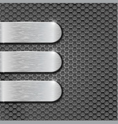 metal perforated background with steel plates vector image vector image