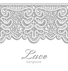 Realistic lace vector image