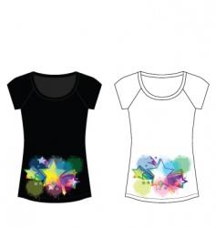 star sparkle woman t shirt vector image