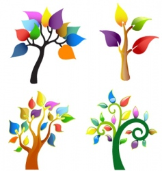 tree symbol collection vector image