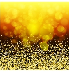 abstract golden glow Christmas background with vector image vector image