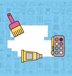 children instruments draw vector image