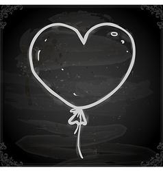 Hand drawn love heart balloon vector
