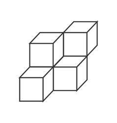 3d cubes icon vector image