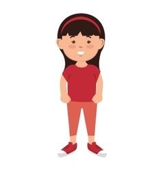 Avatar little girl cartoon vector