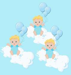 baby boys triplets vector image