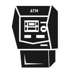 bank atm icon simple style vector image