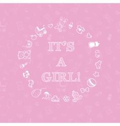 bashower design over pink background vector image