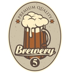 beer label for brewery vector image