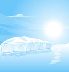 Big Iceberg Landscape vector image
