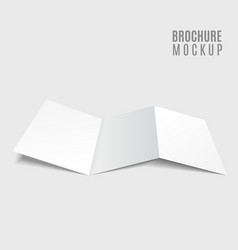 Blank tri-fold brochure design isolated on grey vector