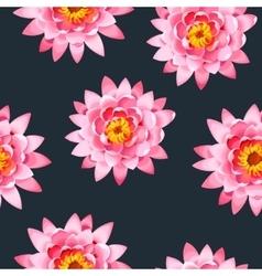 Blooming lotus seamless vector
