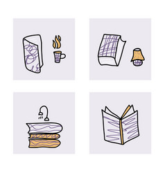 Book concept in doodle style vector