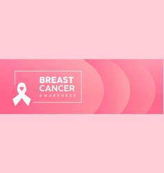 Breast cancer awareness pink abstract web banner vector