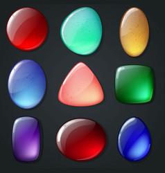 bright realistic gemstones set vector image