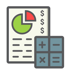 Budget planing filled outline icon business vector