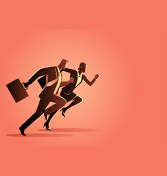 businessman and businesswoman running vector image