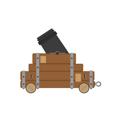 Cannon war civil artillery gun icon vintage vector
