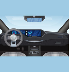 Car auto salon interior vector