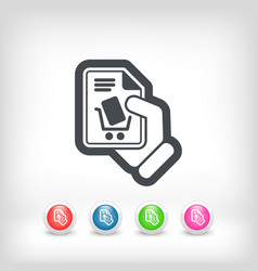 Cart store icon vector
