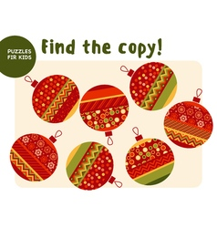 Christmas colorful baubles set in patchwork style vector