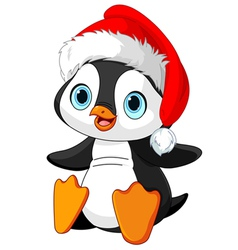 Christmas penguin vector
